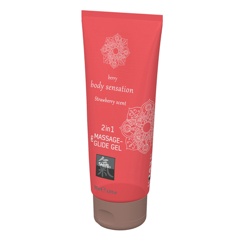 SHIATSU Massage-& Glide Gel 2in1 Strawberry 200ml